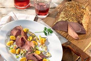 Rinderbraten mit gebratenen Gnocchi und Sauce tartare