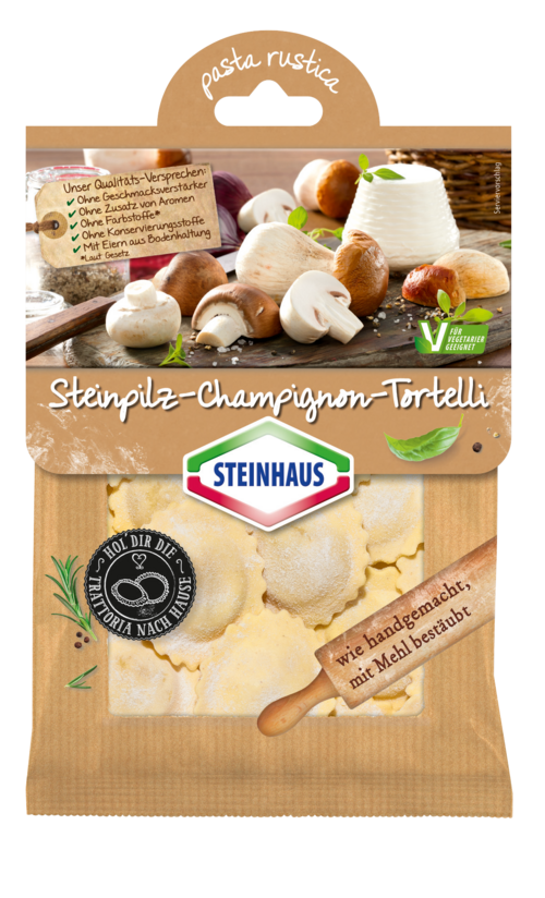 Steinpilz-Champignon-Tortelli