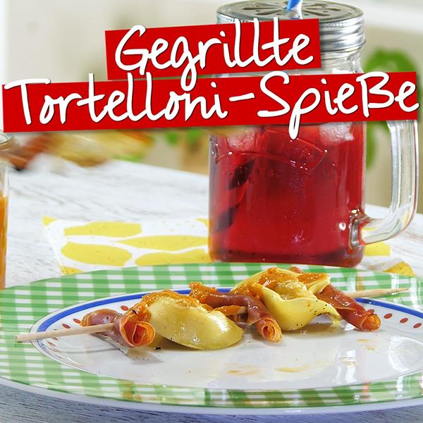 Gegrillte Tortelloni-Spieße