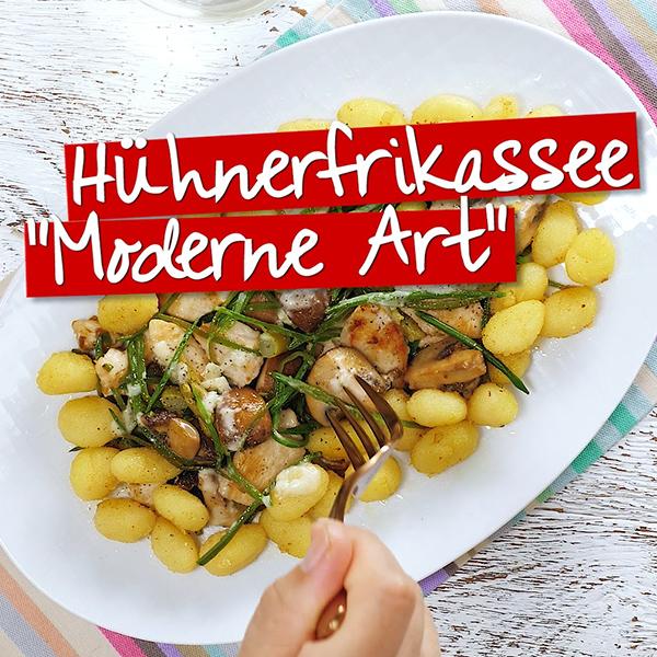 Hühnerfrikassee Moderne Art