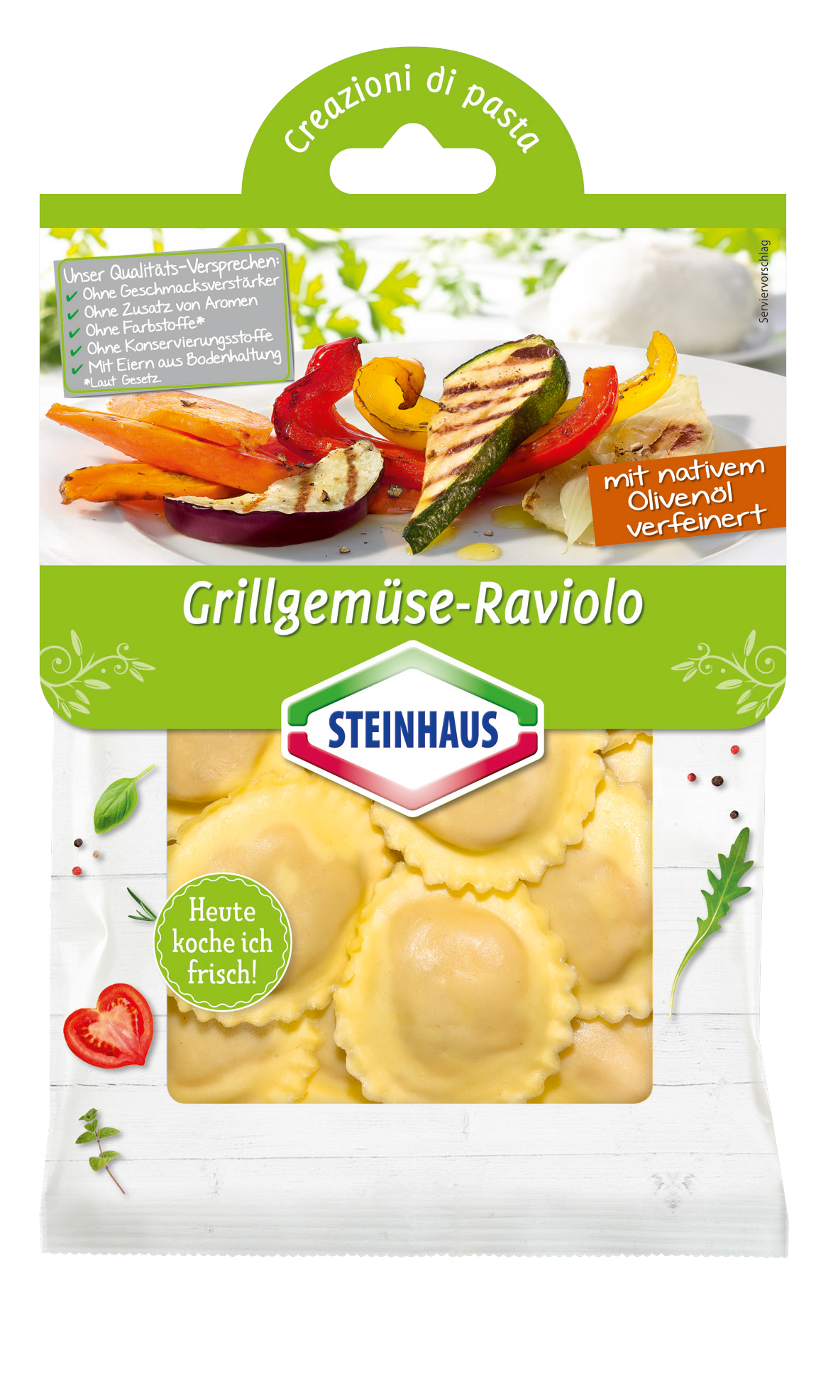 Grill-Gemüse Raviolo