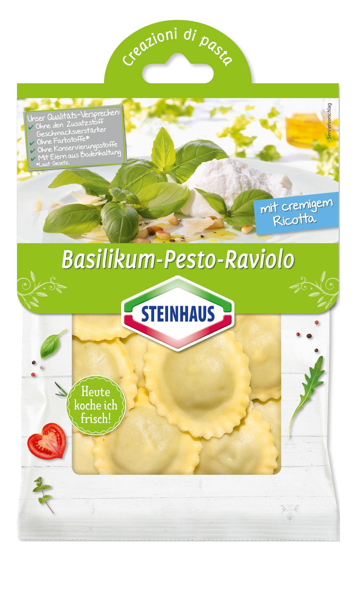 Basilikum Pesto Raviolo