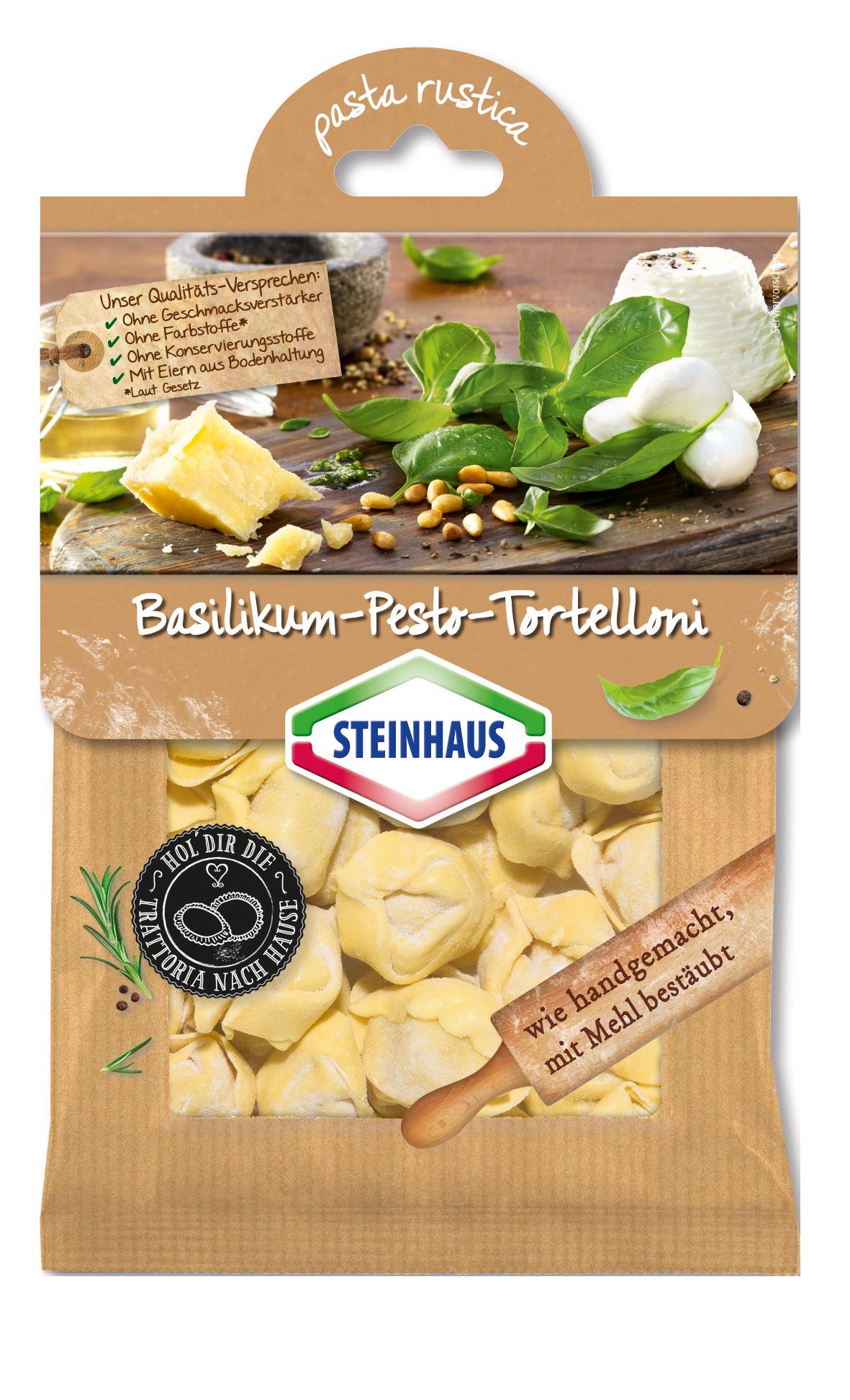 Basilikum-Pesto-Tortelloni