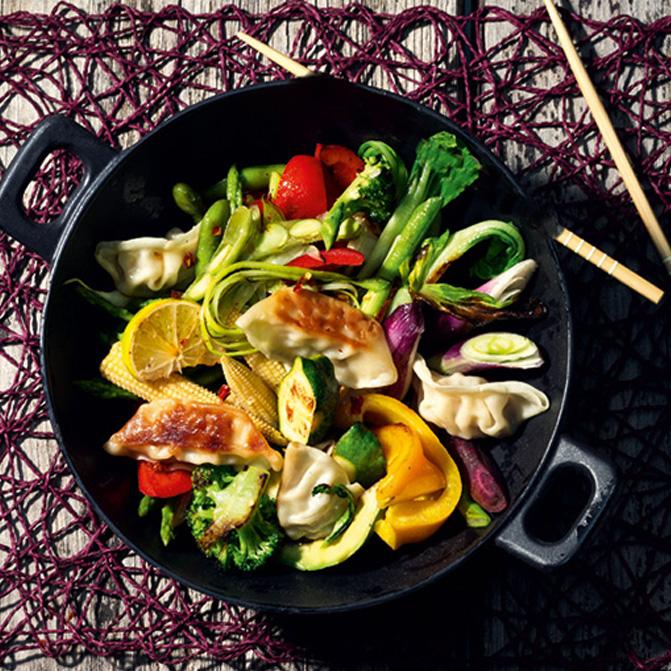 Gemüse- Wok-Pfanne mit Chinmi Gemüse