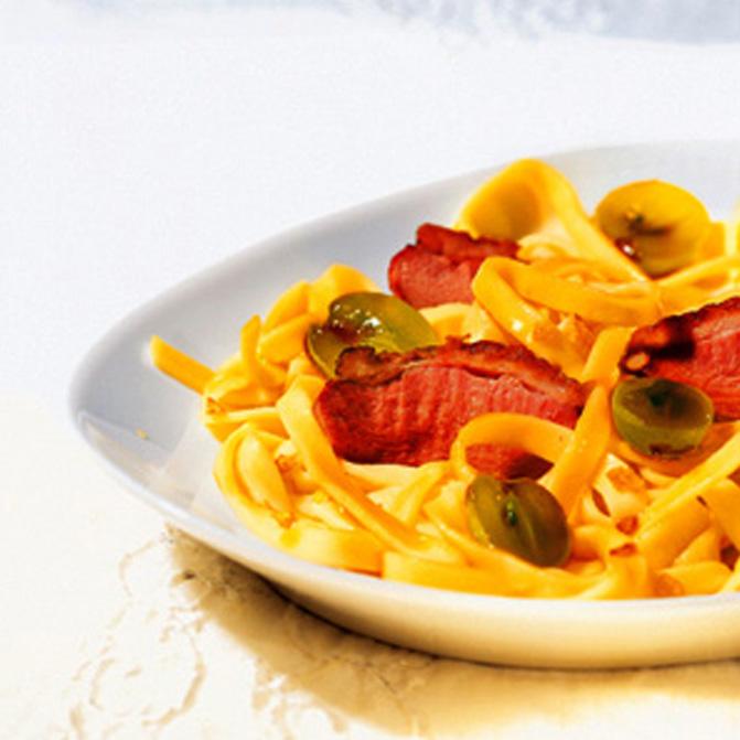 O sole mio – Fettuccine Caruso mit Entenbrust