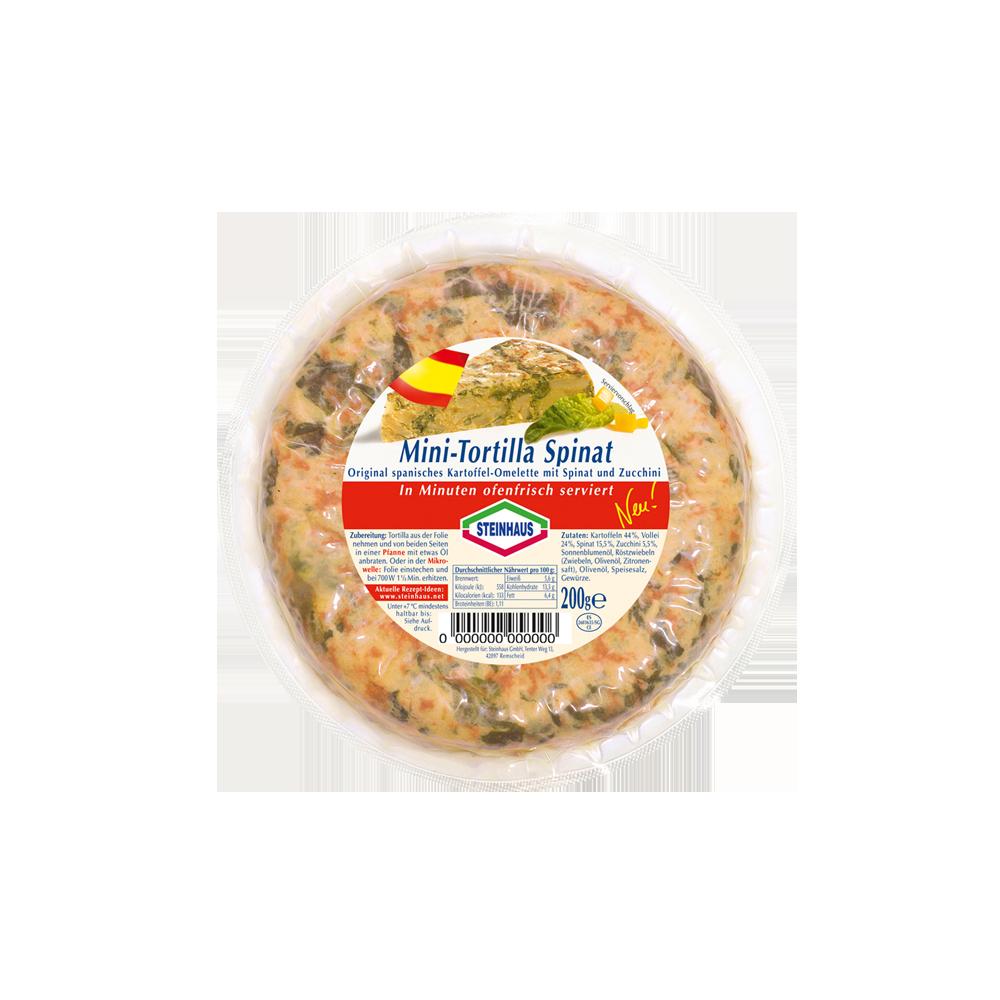 Mini Tortilla Spinat